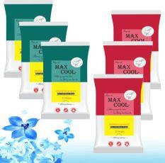 6 Gói Max Cool 15 tờ, Không hương (màu ngẫu nhiên)