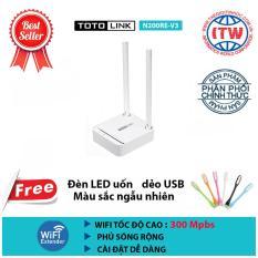 Thiết bị router phát wifi Totolink N200RE-V3 + Tặng đèn LED USB – Hãng phân phối chính thức