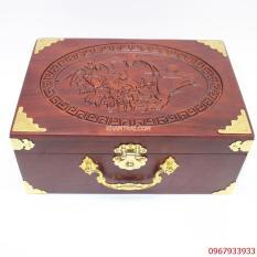 Hộp trang sức, mỹ phẩm gỗ Hương bọc đồng