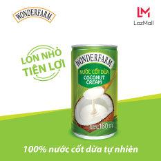 Thùng 30 lon Nước Cốt Dừa WONDERFARM 160ml – 100% nước cốt dừa tự nhiên, tuyệt chiêu cho món ăn thêm ngon miệng & hấp dẫn