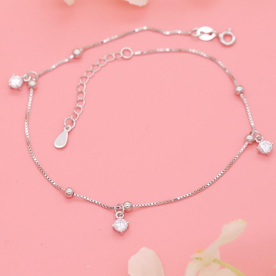Lắc Chân Bạc Cho Nữ LC1550 bảo ngọc jewelry