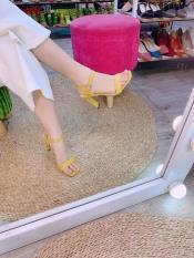 Giày Cao Gót 9p Quay Ngang Hở Gót