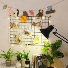 Khung lưới trang trí – Tấm lưới sắt trang trí, Tấm tủ nhựa ghép làm tủ nhựa kệ sách – Tặng kèm móc dán