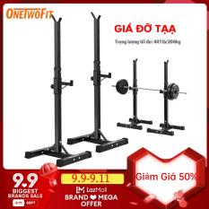 OneTowFit Kệ tạ Thiết bị ép băng ghế nâng tạ / giá tạ đa chức năng Chiều cao từ 112cm đến 177cm OT262