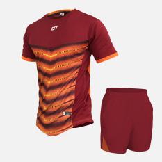 Bộ quần áo bóng đá AJAX màu đỏ trắng, chất liệu thun lạnh Sportslink formChâu Á, dáng suông