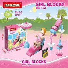 [Mua 1 tặng 1 món quà] Đồ chơi lắp ráp lego, đồ chơi trẻ em Ngôi nhà bé gái Lele Brother 8518