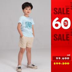 Quần short trẻ em cạp chun túi ốp chính hãng YODY chất liệu kaki co giãn – KID4316