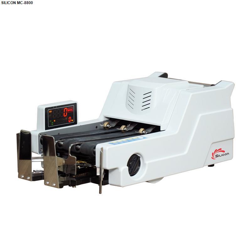 Máy đếm tiền thông minh phát hiện tiền siêu giả Silicon MC-8800 - Có mặt số - Hệ thông lọc...