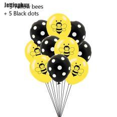 Bóng bay Jettingbuy cao su 12 inch in hình chủ đề con ong, sử dụng trang trí tiệc long lanh sáng bóng N4 – INTL