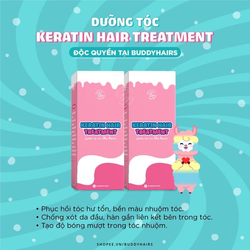 Dưỡng tóc Keratin Hair Treatment - Bền màu nhuộm, Không lo hư tổn của Buddyhairs,Buddy.hairs,Buddyhair TẶNG KÈM găng tay ,...