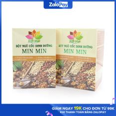 Combo 2 hộp bột ngũ cốc MINMIN lợi sữa cho mẹ bầu và sau sinh (1kg), tuyển chọn 18 loại hạt dinh dưỡng cho mẹ bầu