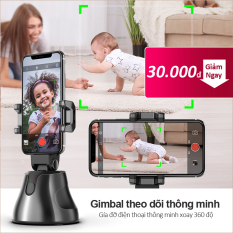 Gimbal theo dõi thông minh xoay 360 độ Chuyển động theo sự di chuyển của vật thể Gía đỡ điện thoại thông minh Nhận diện khuôn mặt Thời lượng pin dài Bảo hành 1 năm APAI GENIE Gía đỡ điện thoại