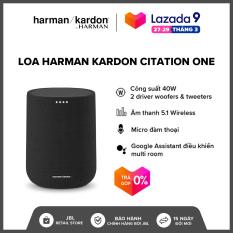 [TRẢ GÓP 0% – HÀNG CHÍNH HÃNG] Loa Harman Kardon Citation One l Công suất 40W l Kết nối 2 loa cho âm thanh nổi l 2 Driver l Hỗ trợ Google Assistant