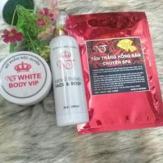 Combo trắng da cấp tốc cao cấp gồm: tắm trắng NT + ủ trắng + kem NT 250g vip
