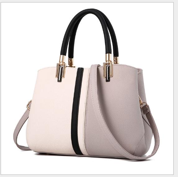 Túi xách công sở nữ cao cấp Quảng Châu, phối 2 màu, chất liệu da PU-Ms559