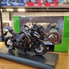 Mô hình xe mô tô Kawasaki Z1000 RR tỉ lệ 1:18 hãng Welly