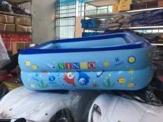 [CƠN LỐC GIÁ SỐC] Bể bơi phao 2 tầng cho bé size 120x85x35cm