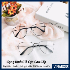 Gọng kính cận nữ Hàn Quốc giá rẻ tròng chống tia UV cao cấp – Mắt kính nữ giả cận mẫu mới nhất – Tặng kèm túi đựng và khăn lau