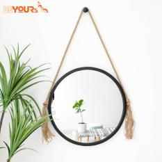 Gương Tròn Soi Treo Tường BEYOURs Khung Gỗ Decor – Mia-Circle-Mirror Trang Điểm – Nội Thất Kiểu Hàn