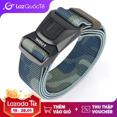 Thắt lưng vải Medyla chính hãng chất liệu nyon mềm khóa kim loại