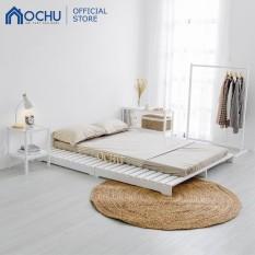 Giường Ngủ Pallet Gỗ Thông OCHU – Pallet Bed – White