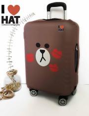 Vỏ bọc vali Gấu brown kiss size S-M-L-XL