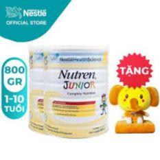 [Tặng 1 Bộ Gối Mền Voi ] Bộ 2 Lon Sữa Bột Nestle Nutren Junior 800g/Lon