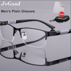 JvGood New Anti Blue Light Glasses Anti Radiation Eyeglass Anti-ultraviolet Anti Eyestrain Eyewear Fashionable Business Half-Frame Blue Light Blocking Glasses for Men