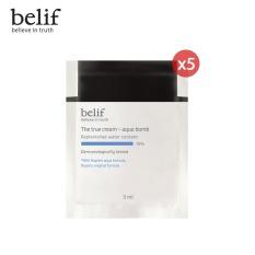 [Quà tặng không bán] Bộ 5 Kem cấp ẩm tức thì dạng gel Belif The True Cream Aqua Bomb 3ml