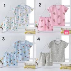 Bộ quần áo sơ sinh 4-6kg vải sợi tre, bộ cộc tay trẻ em vải cotton xước xuất Nhật cao cấp