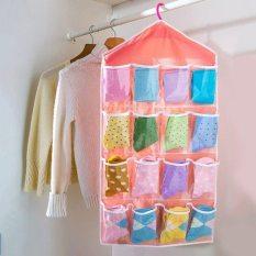 Set 5 túi treo đồ lót xinh xăn 16 ngăn nhiều màu, túi đựng đồ cá nhân, túi đựng đồ gia đình, túi vải treo tủ, treo tường tiện lợi Huy Linh