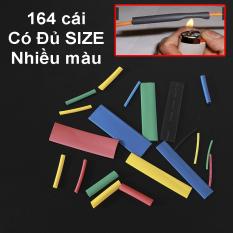 Bộ 164 Ống Gen Co Nhiệt MÀU, Gen nối dây điện 220V, Nối dây điện xe máy, Đủ MÀU Đủ SIZE