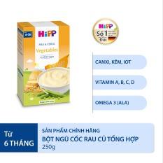 [QUÀ TẶNG HOT] Bột ăn dặm ngũ cốc rau củ tổng hợp HiPP Organic Vegetables Baby Cereal dinh dưỡng hữu cơ, tự nhiên, an toàn, cung cấp năng lượng, bổ sung khoáng chất. vi chất sắt dành cho trẻ từ 6 tháng 250g