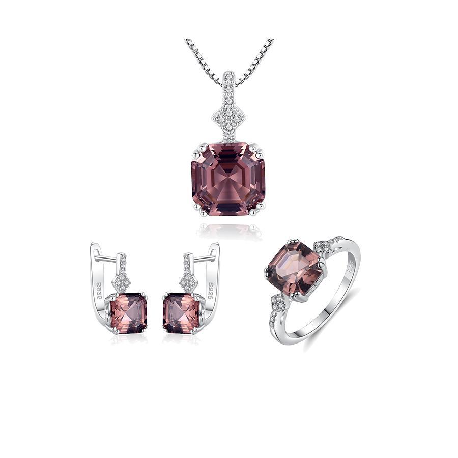 Bộ Trang Sức Bạc Nữ Đính Đá Trang Sức 3 Món Màu Xanh Lam BNT613 Bảo Ngọc Jewelry [ THIẾT KẾ ĐỘC QUYỀN]