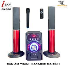 [Miễn phí vận chuyển] Dàn âm thanh khủng tại nhà – dàn karaoke gia đình- kết nối Tivi , iphone, ipad, smartphone – loa vi tính cỡ lớn âm thanh Hifi siêu Bass đỉnh cao có kết nối Bluetooth USB thẻ nhớ Isky – SK326 (Tặng kèm Micro không dây)