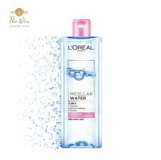 Nước tẩy trang dưỡng ẩm cho da nhạy cảm L'Oreal Paris Micellar Water 400ml (màu hồng)