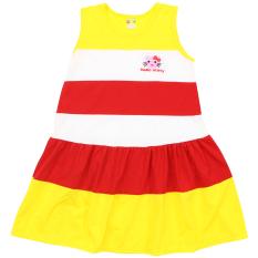 [HCM]Váy chữ A thêu logo dễ thương bé gái – Chất vải mềm