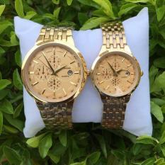 Đồng Hồ Baishuns Nam & Nữ Ba Màu Mặt Dây Vàng Long Lanh Dành Cho Các Cặp Đôi- Shopwatch247