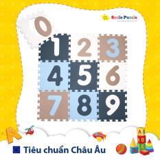 Thảm xốp cho bé – chữ số pastel (10 miếng, kích thước 0.6mx1.5m) Smile Puzzle – KHÔNG MÙI CHUẨN CHÂU ÂU