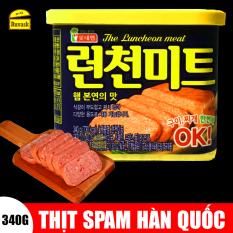 [NẮP VÀNG] Thịt Nguội Spam Hàn Quốc The Luncheon Meat 340G – Thịt Hộp Ham / Thịt Heo Nhập Khẩu Đóng Hộp / Đồ Hộp Ăn Liền Hàn Quốc – Ruvask