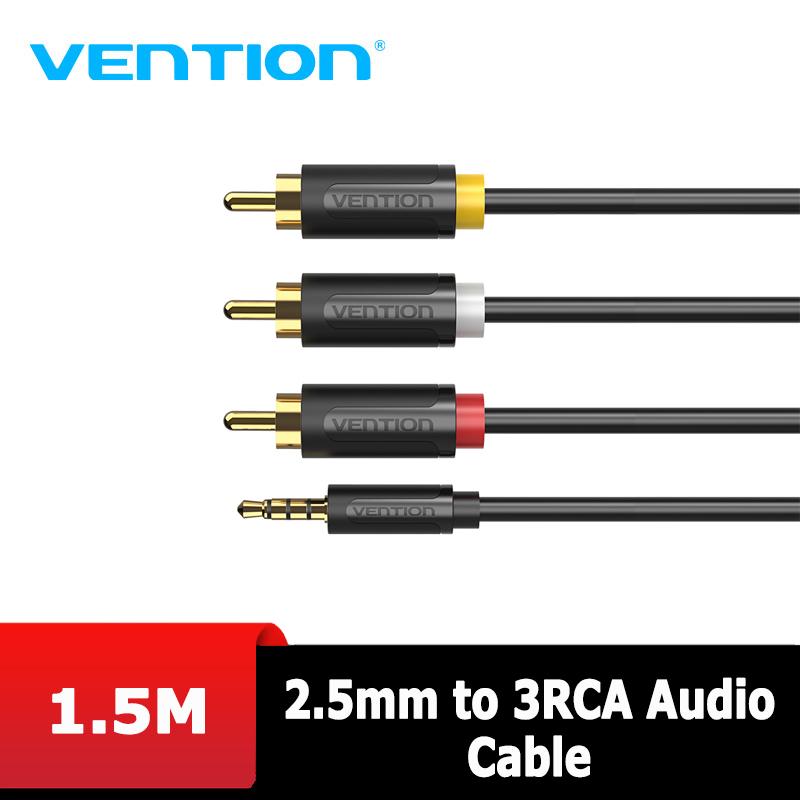 Audio - Dây cáp Audio 2.5mm to 3RCA dài 1.5m Vention BCCBG