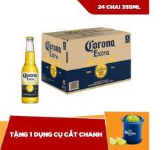 Corona Extra chai 355ml – thùng 24 tặng 1 dụng cụ cắt chanh