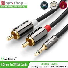 Cáp Audio 3.5mm ra 2RCA Cao Cấp UGREEN AV116