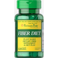 Giảm shocked 90% – giảm táo bón, giảm cân Fiber Diet 120 viên (HSD 30/10/2020) của Puritan's Pride