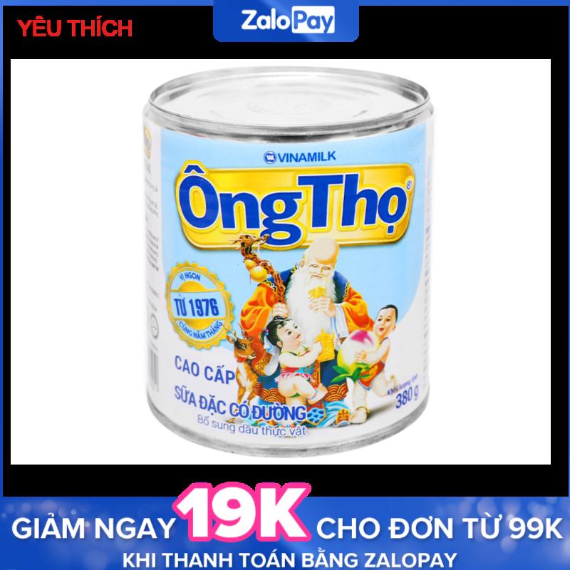 Sữa đặc có đường Ông Thọ trắng nhãn xanh lon 380g(giá kho, date luôn mới nhất)