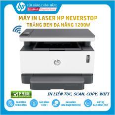 [HPNOV15 Giảm 15% tối đa 1 triệu 500 nghìn] [Trả góp 0%] Máy In Laser Trắng Đen Đa Năng HP Neverstop Laser 1200W (In/Copy/Scan/Wifi/Đen-4RY26A) – Hàng Chính Hãng