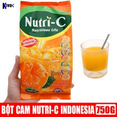 [DATE MỚI] Bột Cam Nutri C Indonesia 750g – Bột Giải Khát Cam Nutri C Tăng Sức Đề Kháng Vitamin C Cho Bé Trẻ Em Người Lớn – Nước Trái Cây Hương Cam Ép (Shop có Bột Cam Tang) – Kivo