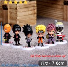 Bộ 6 nhân vật Chibi mô hình Naruto cao 7cm Set 6 con [Giảm thêm 5% đơn 200k Mã LUCKY]