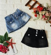 Chân váy jean kèm chip dành cho bé gái