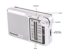 Đài radio FM/AM Panasonic RF P150D made in Indonesia, 2 băng đài AM/ FM, đèn led hiển thị sóng, sử dụng 2 pin AA